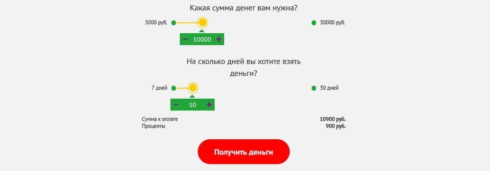 Онлайн калькулятор займов Fastmoney
